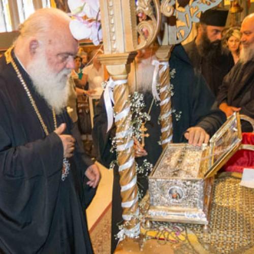 Την Αγία Ζώνη της Υπεραγίας Θεοτόκου προσκύνησε ο Αρχιεπίσκοπος κ. Ιερώνυμος