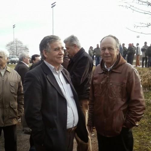 Χρήστος Αντωνίου και Δημήτρης Χαμπίδης στον κόμβο της Κουλούρας