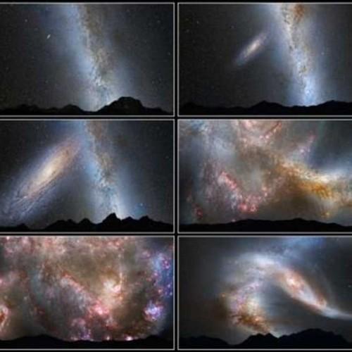 Πως θα φαίνεται ο νυχτερινός ουρανός, μετά τη σύγκρουση του Γαλαξίας μας, με τον Μεγάλο γαλαξία της Ανδρομέδας;