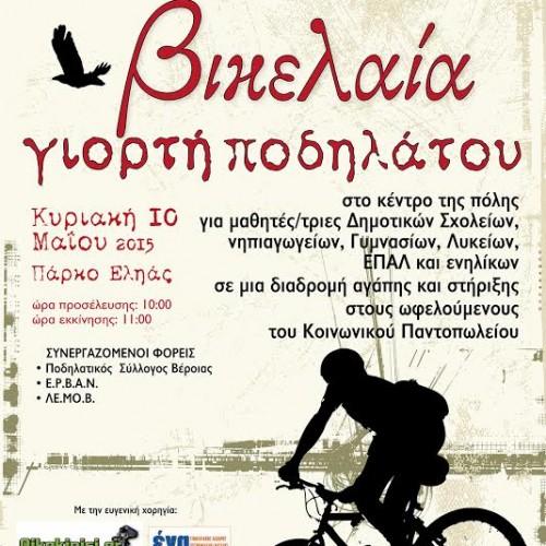 Βικελαία Γιορτή Ποδηλάτου 2015, στη Βέροια