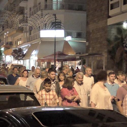 Εκατοντάδες πολίτες διαμαρτυρήθηκαν για την ευρω θηλιά, στην πορεία της διαπραγμάτευσης χρέους