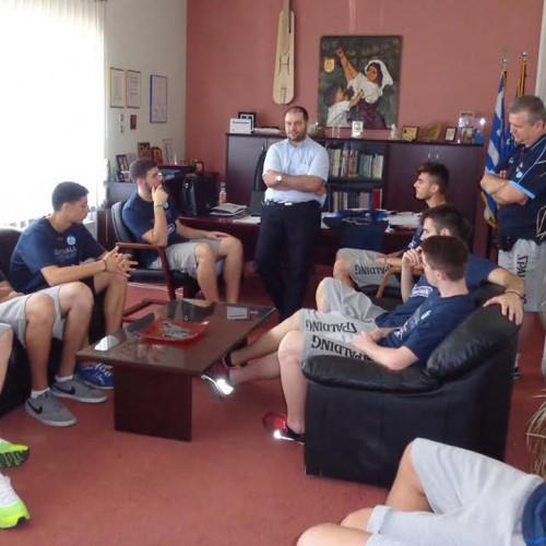 22μελής Αποστολή της Εθνικής Ομάδας Μπάσκετ Παίδων στον Νίκο Κουτσογιάννη