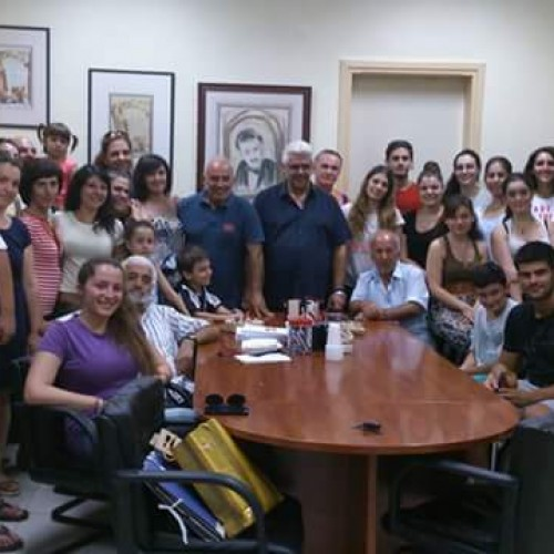 H Εύξεινος Λέσχη Βέροιας τίμησε τον συντοπίτη ηθοποιό Δημήτρη Μαυρόπουλο