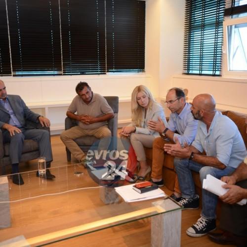 Ο Ευάγγελος Μεϊμαράκης συναντήθηκε σήμερα με εκπροσώπους της Συντονιστικής Επιτροπής Αγροτών