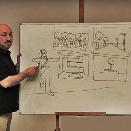 Στην Εύξεινο Λέσχη Ποντίων Νάουσας, μαθήματα Σκίτσου - Εικονογράφησης και Κινούμενου σχεδίου