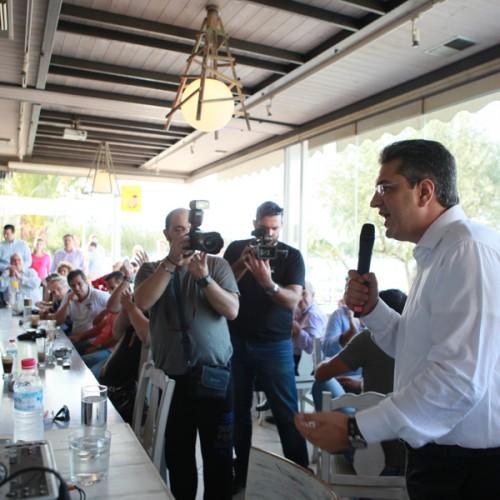 Ο Απόστολος Τζιτζικώστας, σήμερα Σάββατο 10 Οκτωβρίου 2015, στο Νομό Ημαθίας