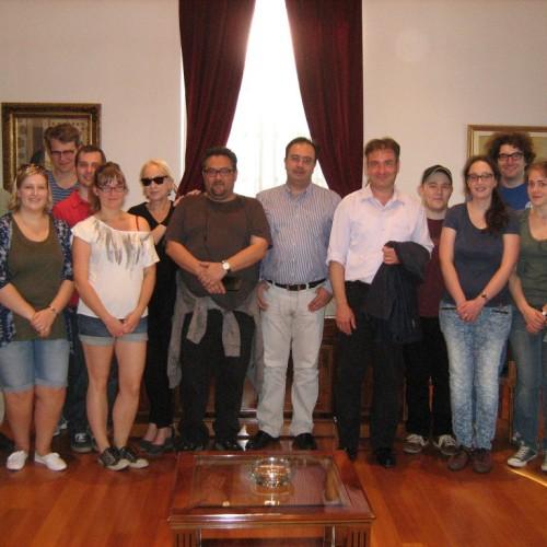 Γερμανοί φοιτητές στον Δήμαρχο Βέροιας