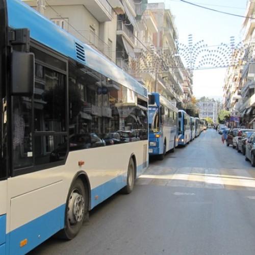 """""""Πορεία"""" αστικών και υπεραστικών λεωφορείων στη Βέροια, για μια… στάση!"""