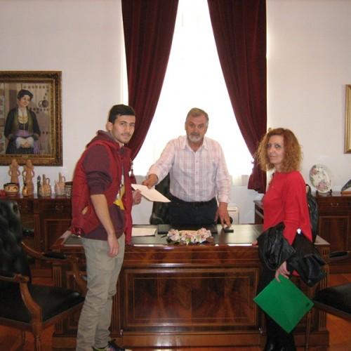 Εκπρόσωποι του Μουσικού Σχολείου στον Αντιδήμαρχο Παιδείας του Δ. Βέροιας