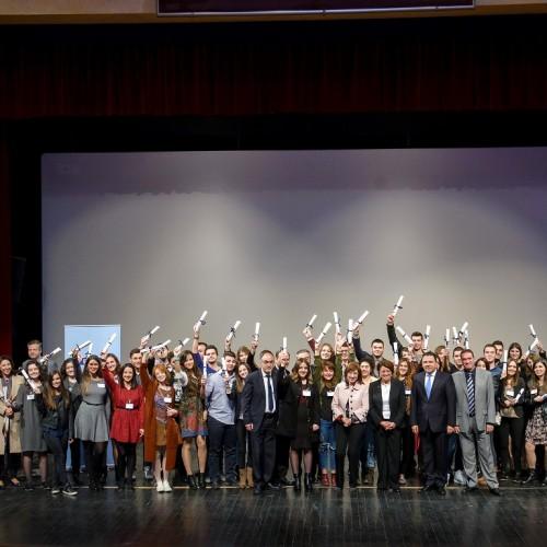 Η τελετή βράβευσης των αριστούχων μαθητών οκτώ Νομών στη Βέροια απο τον όμιλο  Eurobank – Όλα τα ονόματα
