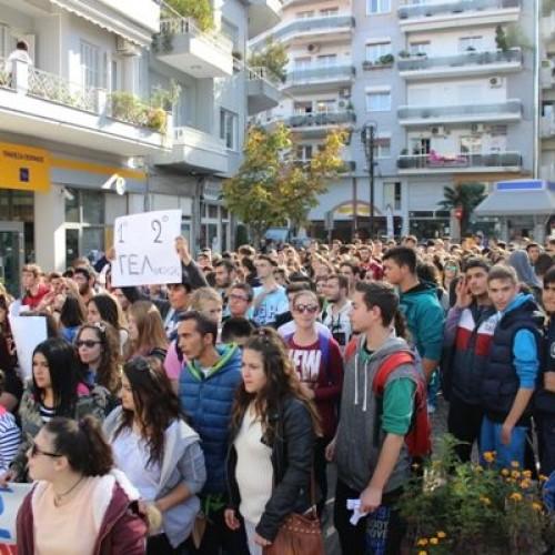 Δυναμική η κινητοποίηση των μαθητών Λυκείων της Νάουσας – Τα αιτήματα   (Video -  Photo)
