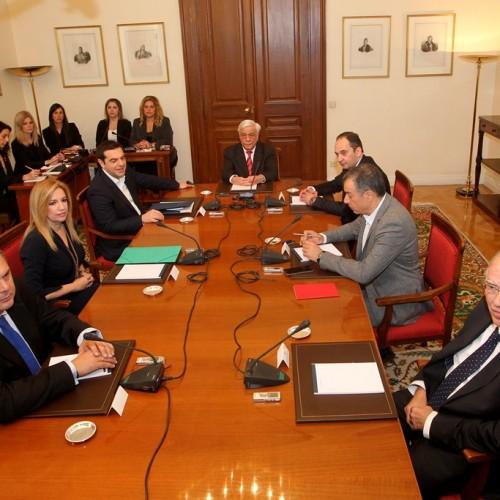 Σύσκεψη Πολιτικών Αρχηγών: Συμφώνησαν στους στόχους, διαφώνησαν στους τρόπους