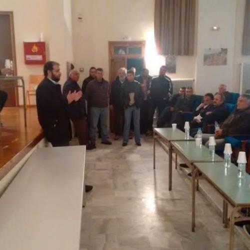 Ο Δήμαρχος Νάουσας στη συνάντηση των αγροτών του Ενιαίου Συλλόγου Νάουσας στον Στενήμαχο