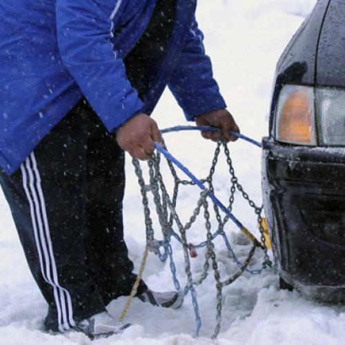 Η κατάσταση στο οδικό δίκτυο της Κεντρικής Μακεδονίας εξαιτίας της χιονόπτωσης-παγετού. Σάββατο 02 Ιανουαρίου 2016