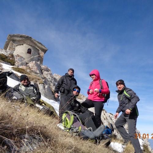 Ορειβατική ομάδα Βέροιας «Τοτός». Εξόρμηση από τον Αγ. Νικόλαο Νάουσας   στην κορυφή Αγ. Πνεύμα
