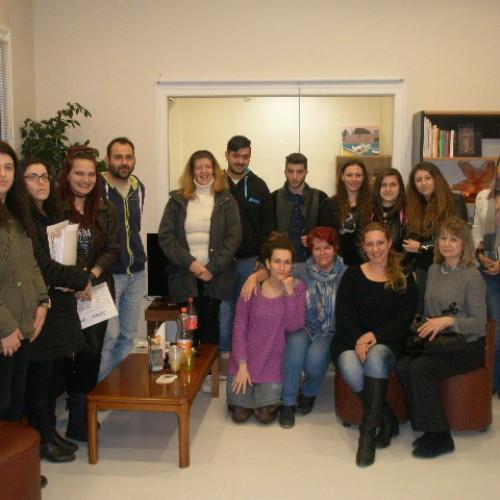 Επίσκεψη του Τμήματος Εργοθεραπείας του ΙΕΚ Βέροιας στη Στέγη Δημιουργίας του ΣΟΦΨΥ