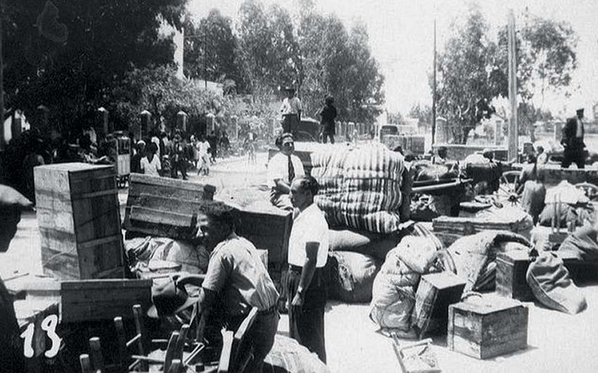 Ξεριζωμένοι από την Αλεξανδρέττα καταφεύγουν στην -υπό γαλλική κατοχή- Συρία, διωγμένοι από τους Τούρκους.