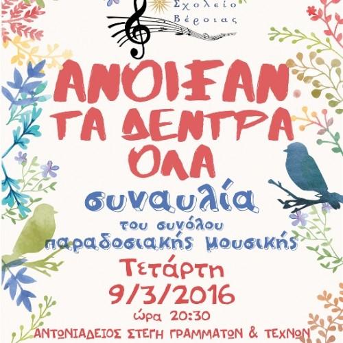 Πρόσκληση σε Συναυλία από το Μουσικό Σχολείο Βέροιας, Τετάρτη 9 Μαρτίου