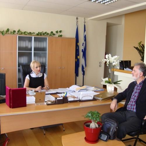 Συνάντηση συνεργασίας του Προέδρου του ΔΗ.ΠΕ.ΘΕ. Βέροιας με την Αντιπεριφερειάρχη Πιερίας
