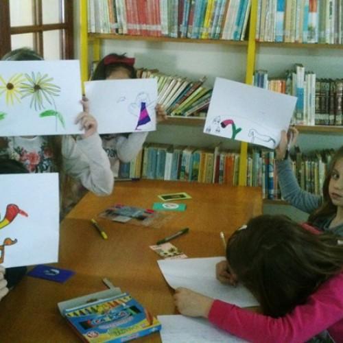 """Εκπαιδευτικό πρόγραμμα """"Γράψε καρδιά μου το δικό σου παραμύθι""""  πραγματοποιήθηκε στην Δημοτική βιβλιοθήκη """"Θ. Ζωγιοπούλου"""""""