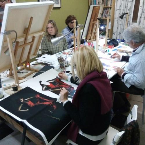 Στο Παρίσι το εργαστήρι ζωγραφικής και καλλιτεχνικής δημιουργίας του Κωνσταντίνου Αρώνη