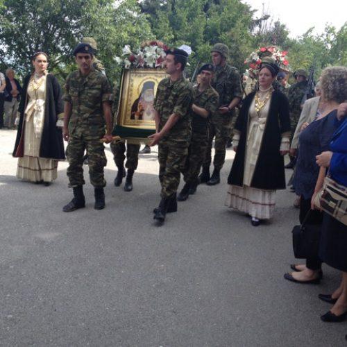 Το Λύκειο  Ελληνίδων Βέροιας στις εορταστικές εκδηλώσεις στην Ιερά Μονή Δοβράς