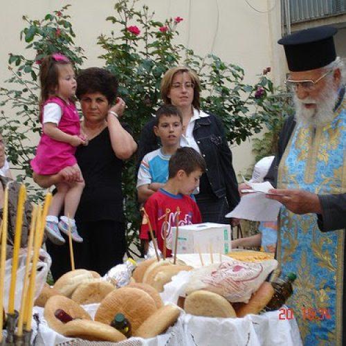 Aρτοκλασία στο παρεκκλήσι των Αγ. Κωνσταντίνου & Ελένης από τους Προσκόπους της Βέροιας