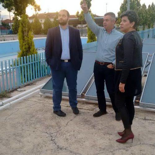 Ηλιακοί  συλλέκτες  στο  Δημοτικό Κολυμβητήριο  Ζερβοχωρίου