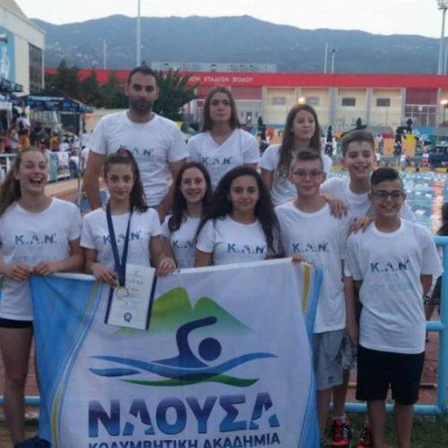 """Ρεκόρ, μετάλλια και όριο προεθνικής για την Κολυμβητική Ακαδημία """"ΝΑΟΥΣΑ"""" στο Πανελλήνιο Πρωτάθλημα"""