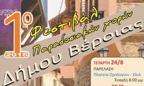 1ο Φεστιβάλ Παραδοσιακών Χορών Δήμου Βέροιας, 24 με 28 Αυγούστου -  Το Πρόγραμμα των Χορευτικών Ομάδων