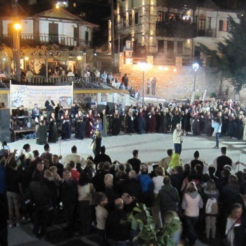 Κοσμοπλημμύρα παραμονή Δεκαπενταύγουστου στο Σέλι! Περιφορά της εικόνας της Παναγίας και βλάχικο γλέντι στην πλατεία