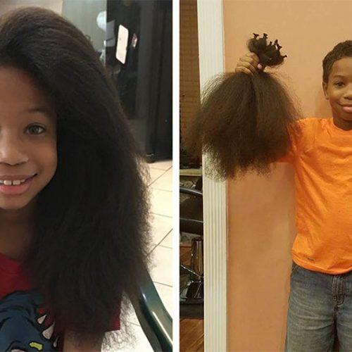 8χρονο παιδί μάκραινε τα μαλλιά του για 2 χρόνια για να τα δωρίσει στους καρκινοπαθείς