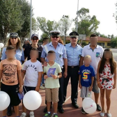 Ενημερωτικά φυλλάδια μοίρασαν  τροχονόμοι σε γονείς και μαθητές δημοτικών σχολείων   σε περιοχές της Κ. Μακεδονίας