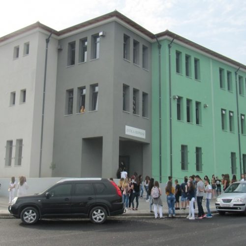 Ο πρώτος αγιασμός στο νέο υπερσύχρονο σχολικό   συγκρότημα  στα Γιοτζαλίκια στη Βέροια