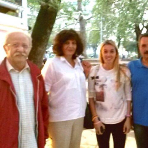 Συνάντηση της Φρόσως Καρασαρλίδου με την πρωταθλήτρια στο Έπταθλο Σοφία Υφαντίδου