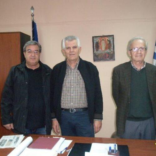 Επίσκεψη    του  Δ.Σ. του ΣΟΦΨΥ Ημαθίας στο νέο Διοικητή του Νοσοκομείου Βέροιας,  Δ.  Μαυρογιώργο