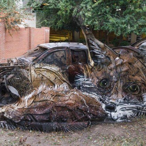 Πορτογάλος καλλιτέχνης  με…  σκουπίδια  κατασκευάζει εντυπωσιακά έργα τέχνης στέλνοντας ισχυρό περιβαλλοντικό μήνυμα