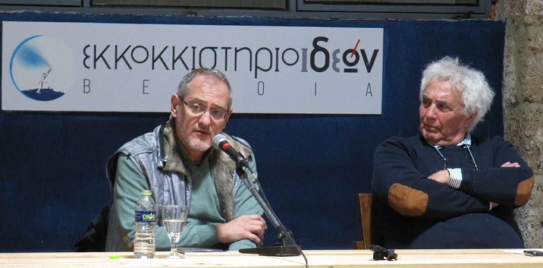 """Ο Γιώργος Ανδρέου, ένας """"απερίσκεπτος πλοηγός"""", γοήτευσε χθες στο Εκκοκκιστήριο Ιδεών, με την ποίησή του και το λόγο του"""
