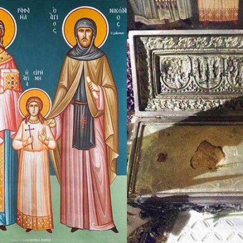 Λείψανα των Αγ. Ραφαήλ, Νικολάου και Ειρήνης στην Πατρίδα Βέροιας