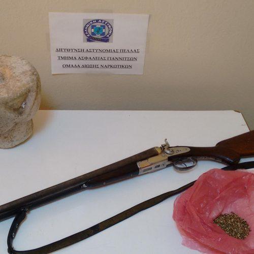 Συνελήφθη στα Γιαννιτσά για κατοχή αρχαίου αντικειμένου και φυτών κάνναβης