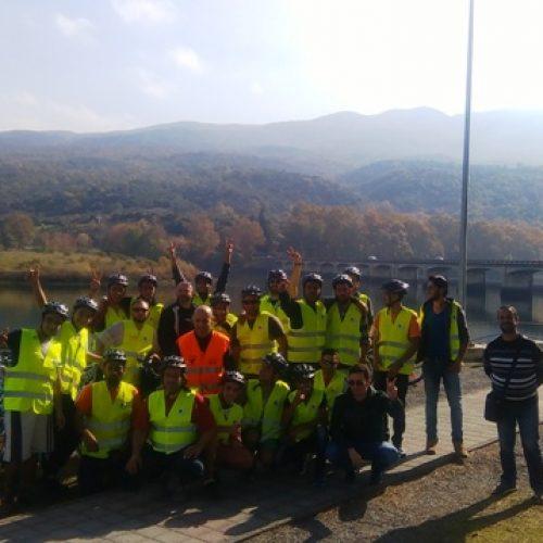 Με επιτυχία πραγματοποιήθηκε η ποδηλατοπορεία για τους πρόσφυγες στη λίμνη Αλιάκμονα