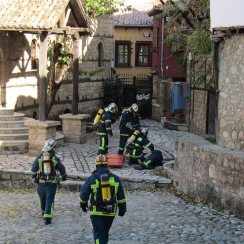 Άσκηση ετοιμότητας της Πυροσβεστικής Βέροιας στη  Μπαρμπούτα, ιδιαίτερα επικίνδυνη περιοχή για πυρκαγιά
