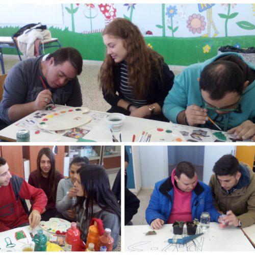 """""""Τα Παιδιά της Άνοιξης""""  σε ομάδα συνύπαρξης  με τους μαθητές του 1ου ΕΠΑΛ Κουφαλίων"""