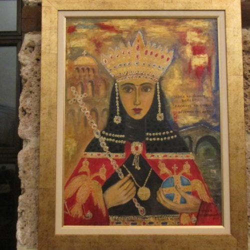 """Ταξίδι στο """"Βυζαντινό Κόσμο""""  με το χρωστήρα του Ηλία Κοντοζαμάνη - Εγκαίνια της έκθεσής του στη Βέροια"""
