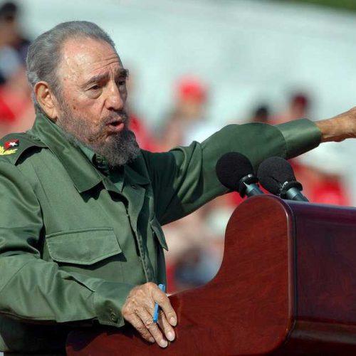 Φιντέλ Κάστρο. Η τελετή  ταφής της τέφρας