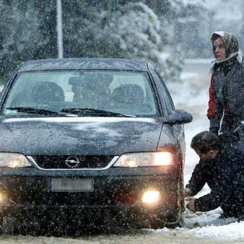 Η κατάσταση στο οδικό δίκτυο της Κ. Μακεδονίας λόγω χιονόπτωσης και παγετού (1/12/2016, ώρα 08:45)
