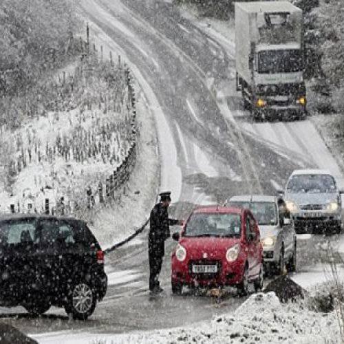 Η κατάσταση του οδικού δικτύου στην Κεντρική Μακεδονία. Σάββατο 31 Δεκεμβρίου  ώρα 09:00