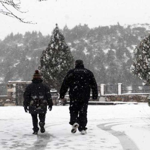 Χιονοπτώσεις προβλέπει η ΕΜΥ για το ερχόμενο 4ήμερο