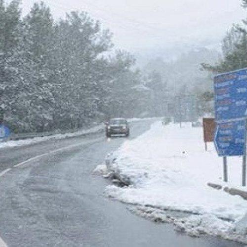 Η κατάσταση του οδικού δικτύου στην Κεντρική Μακεδονία. Δευτέρα 9 Ιανουαρίου ώρα 11:30