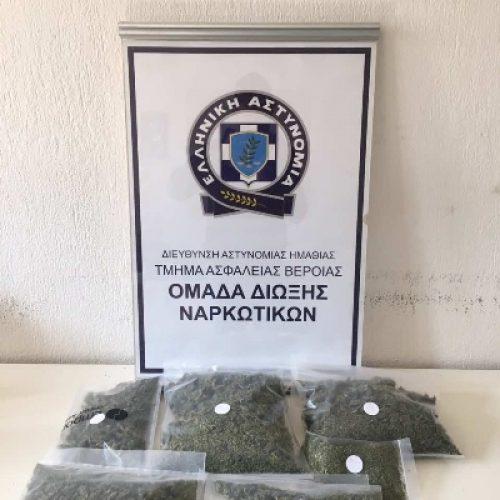 Συνελήφθη στην Πέλλα, από την Ομάδα Δίωξης Ναρκωτικών Βέροιας  για διακίνηση κάνναβης